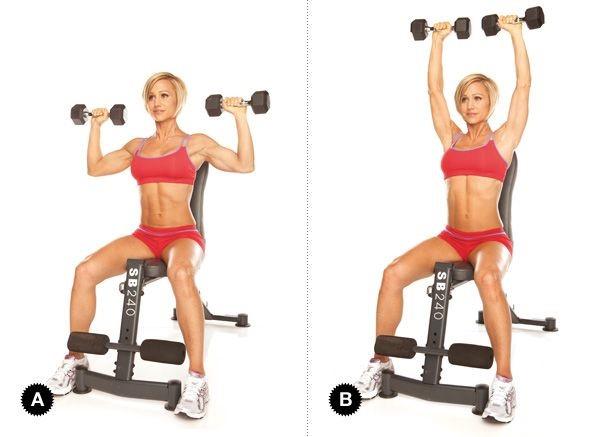 Seated Dumbell Shoulder Press